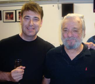 Image of me and Sondheim