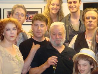 Image of Stephen Sondheim with cast of Sweeney