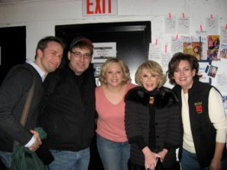 Image of Joan Rivers with cast of Make Me a Song